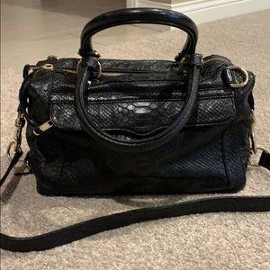 Rebecca Minkoff black alligator bag